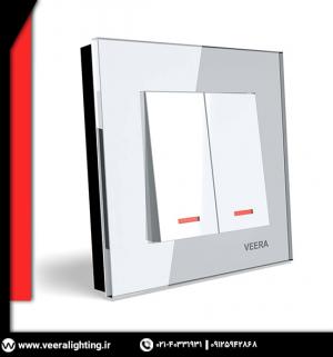 کلید دو پل مدل ویرا کریستال سفید