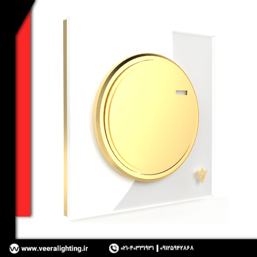 کلید تک پل ویرا مدل آلفا اسپرت سفید میانه طلا
